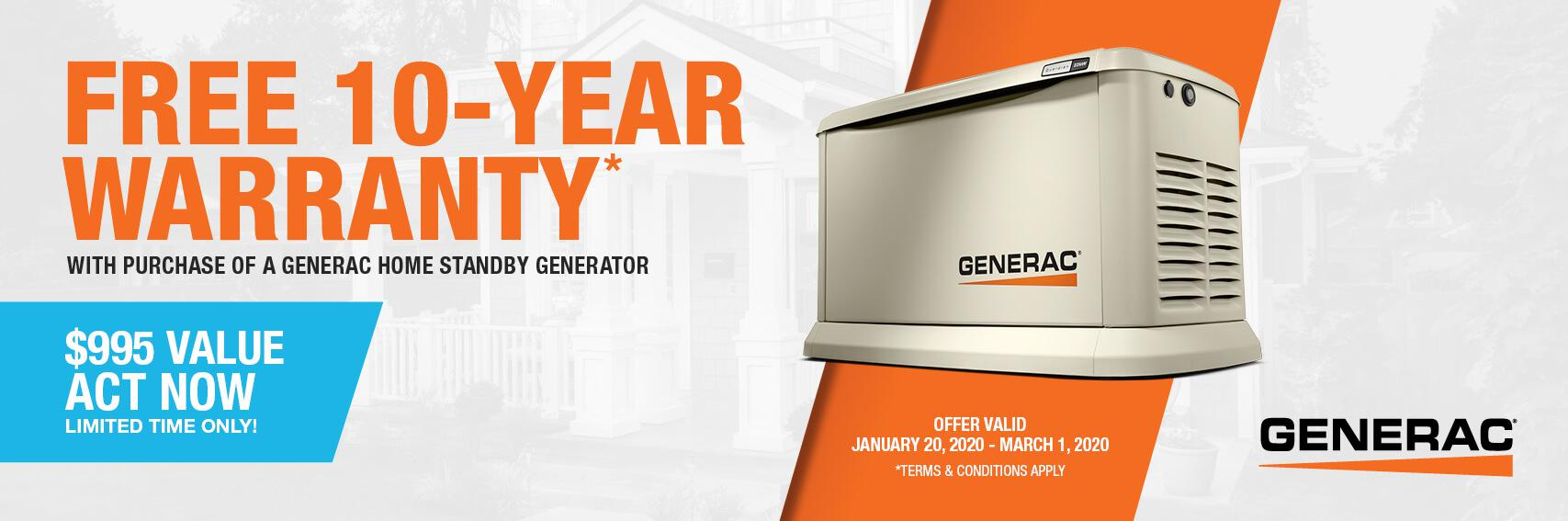 Homestandby Generator Deal | Warranty Offer | Generac Dealer | Houma, LA